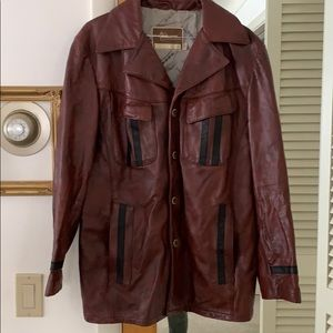 Leather shop collection cool leather jacket maroon
